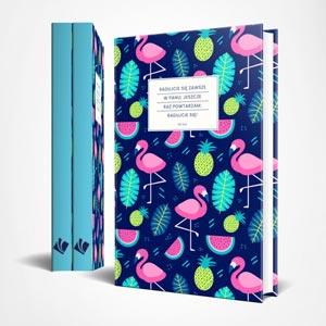 Notatnik z cytatami - Flamingi